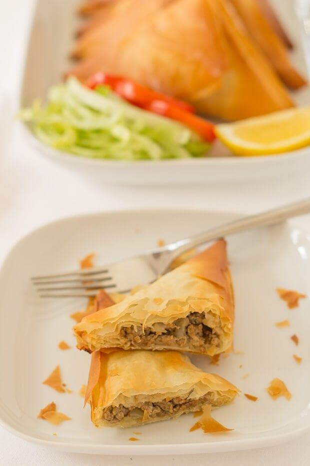 Turkey Filo Pastry Samosas