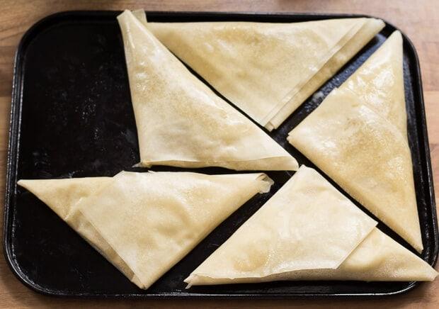 Turkey Filo Pastry Samosas Folding5