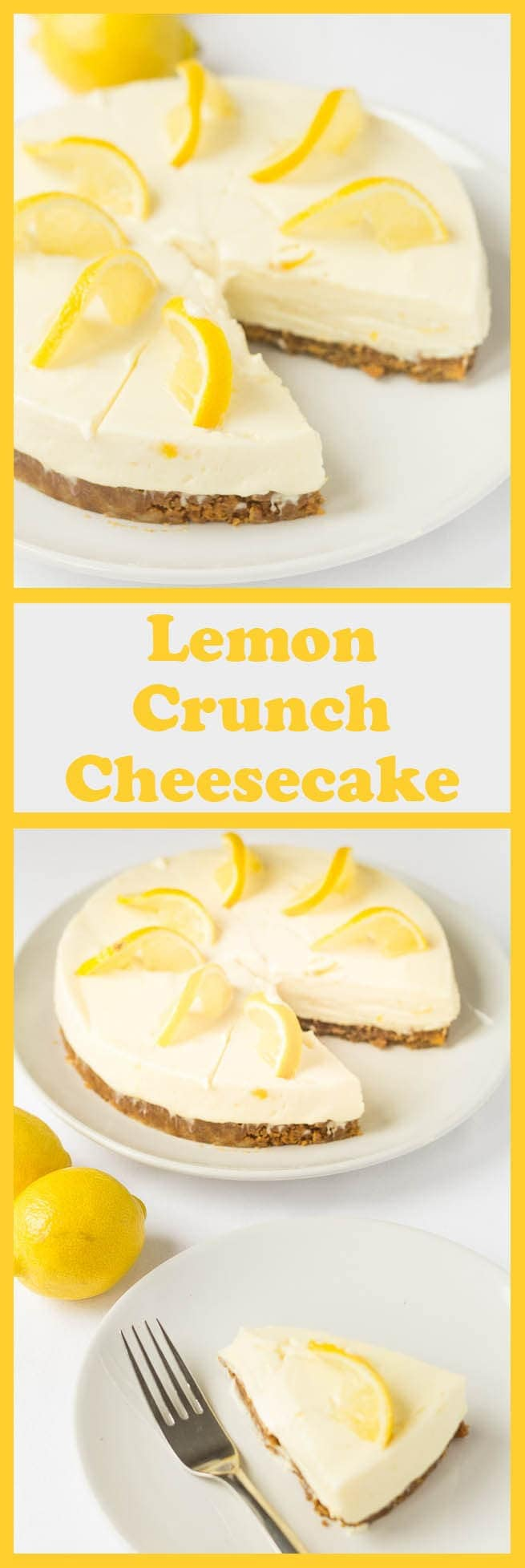 Lemon crunch cheesecake is a delicious no bake cheesecake recipe. It's simple, low cost and easy to make. With an amazing zingy refreshing lemon flavour all it requires is a bit of time to set in your fridge.