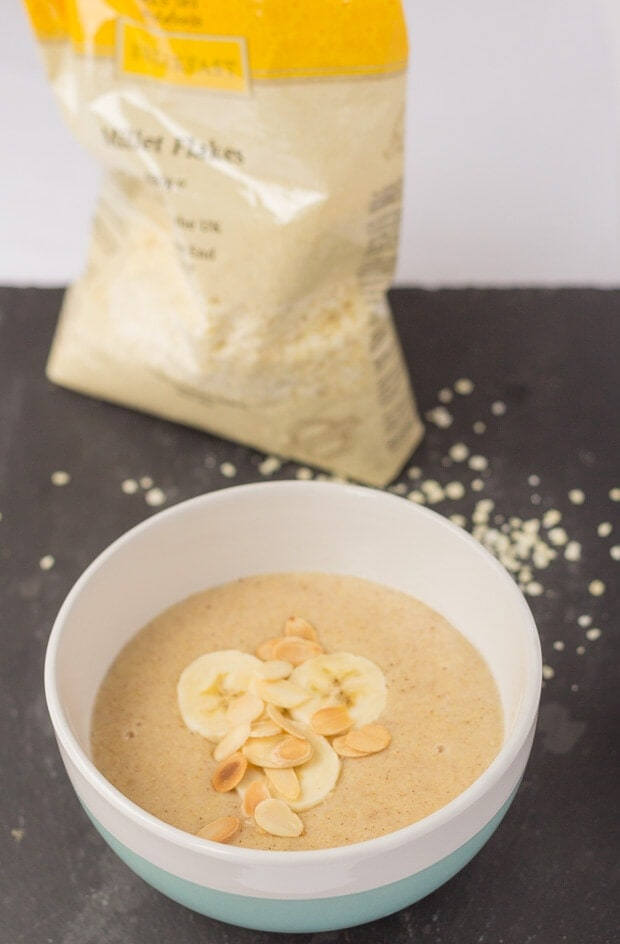 Banana Millet Porridge is a deliciously creamy tasting alternative breakfast to oatmeal. Gluten free and ready in just 10 to 15 minutes, this healthy and satisfying breakfast makes for a great start to the day!