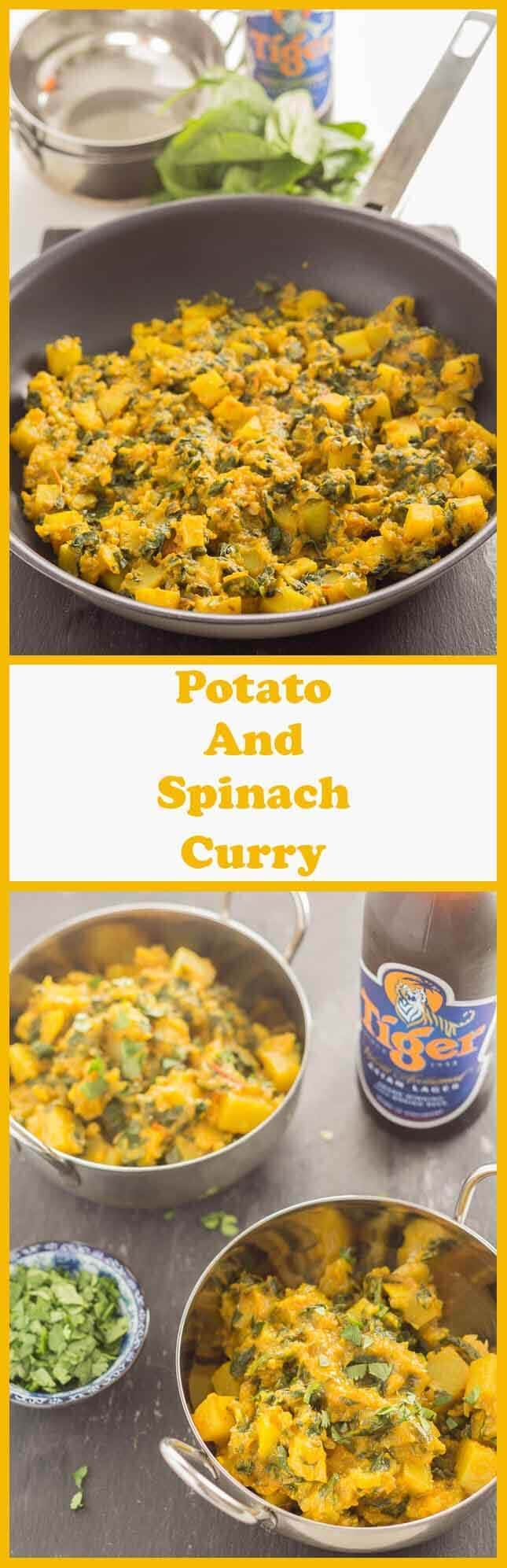 This simple potato and spinach curry is not only vegan and low in calories but its exceptionally tasty, easy to make and ready to serve on your dinner table in less than one hour.