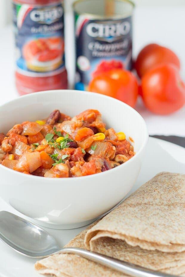 Easy Vegan Chilli