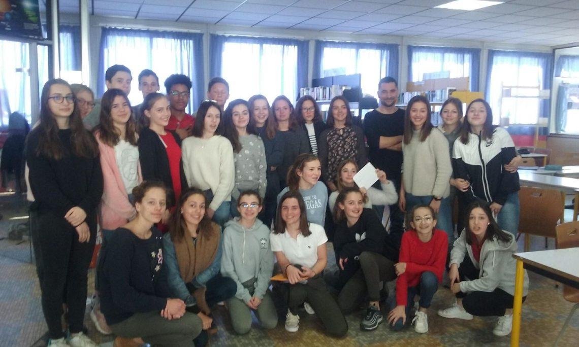 Impressions 2018 après intervention au collège Saint-Blaise