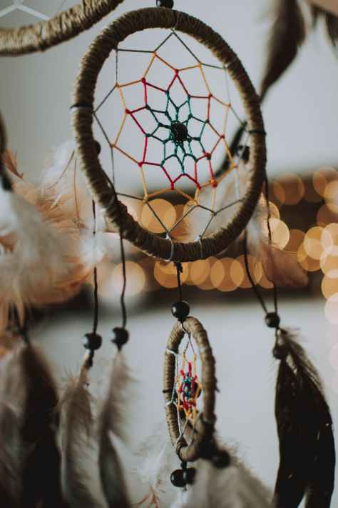 closeup photography of brown dream catcher