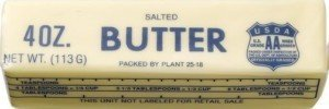 Stick of butter - quarter pound of fat best
