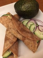 bean and avocado wrap super food