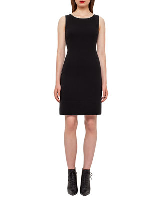 Designer Dresses at Neiman Marcus Akris Wool Crepe Double Hem Dress