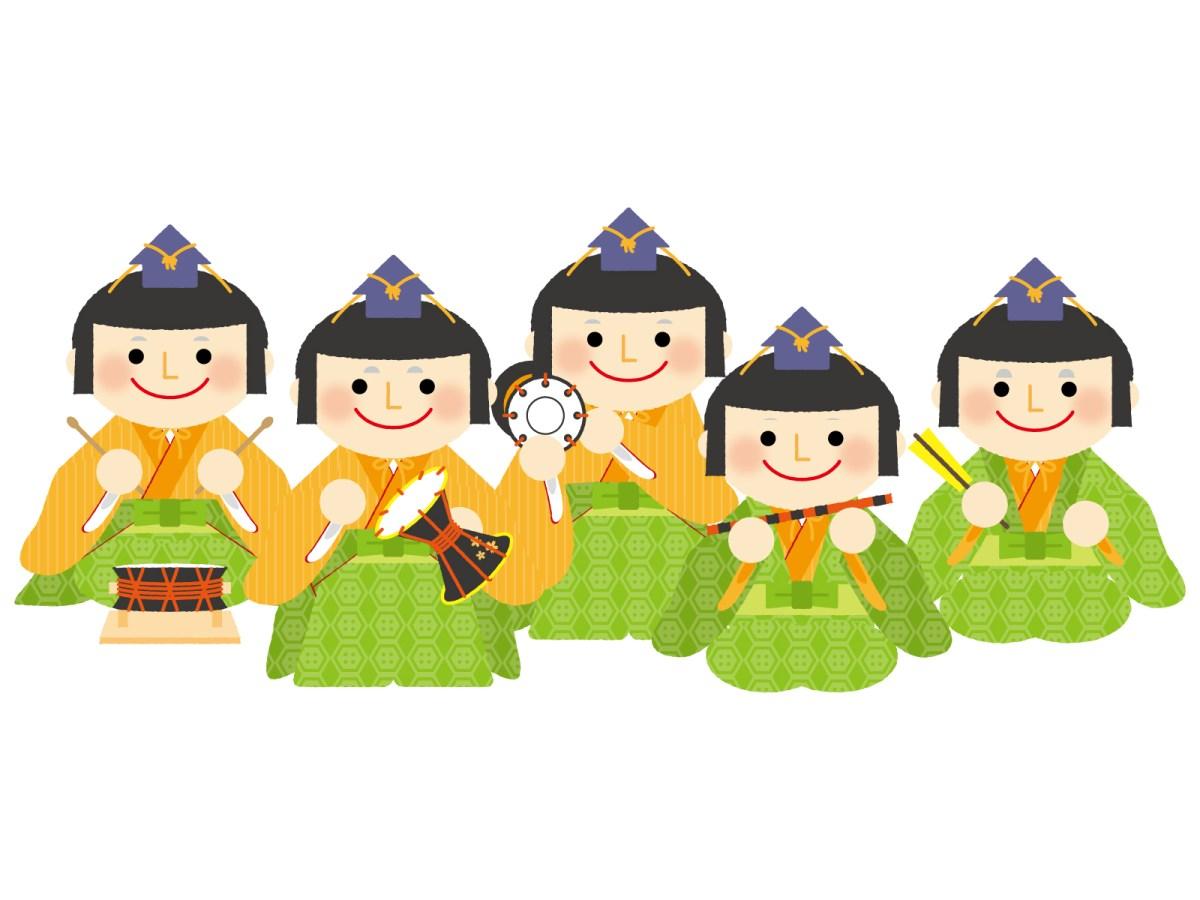 雛人形に五人囃子がいる役割は何か持ち物の意味とお雛様で並べる順番