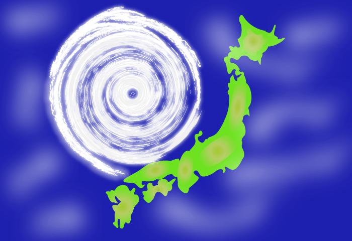 台風の目とはどんな意味?どうして出来る?中はどうなってるの?
