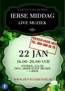 Ierse middag @ Huys van Bunne | Bunne | Drenthe | Nederland