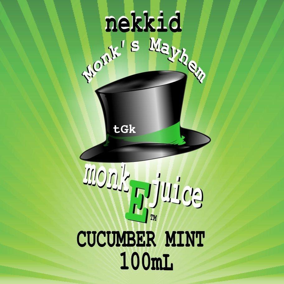 Cucumber Mint Eliquid - Nekkid Monk Vape Shop