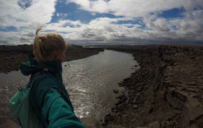 På veg bort å kikke på Selfoss