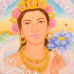 「甘美に咲く蓮華とみつばち」ハイアーセルフの肖像