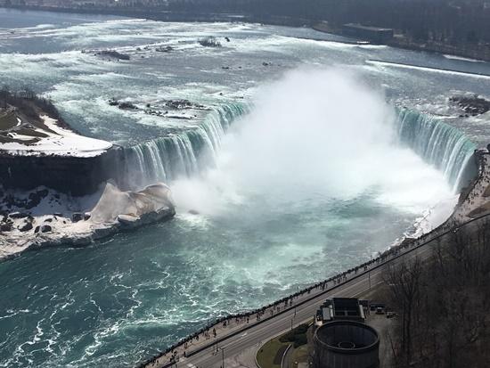 スカイロンタワーからのカナダ滝