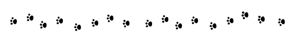 猫の足跡(肉球)ライン素材ブラック