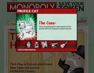 130208catmono 300x233 - モノポリーの駒に猫の加入が決定。そしてノミネート理由が的確すぎる