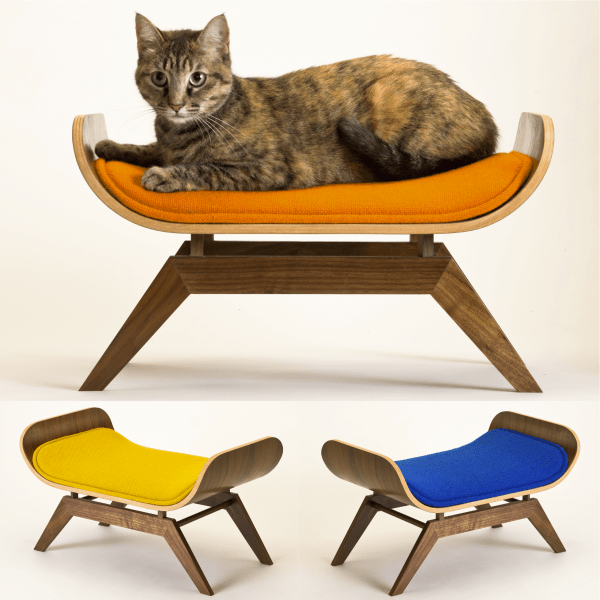131001TheCanopyLounge 600x600 - モダンな猫ベッドシリーズ:The Canopy Lounge by Canopy Studio