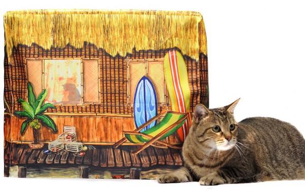 131210cattoilet02 600x376 - 隠せてオシャレで一石二鳥な、猫トイレカバー