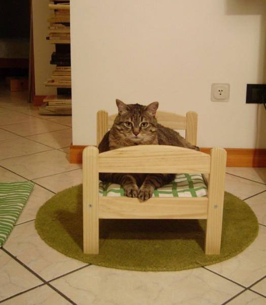 140213IKEAcat02 524x600 - IKEAのドールベッドは、猫ベッドに最適