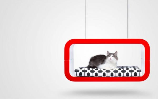 140225suite 600x378 - モダンな猫ベッドシリーズ:「Suite」