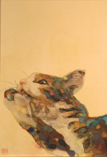 150925takahirowatanabe01 408x600 - 猫と光と色彩と、かわいく妖艶な猫絵画