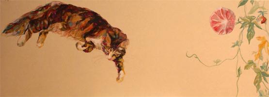 150925takahirowatanabe02 - 猫と光と色彩と、かわいく妖艶な猫絵画