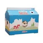 ワイプに抜かれる猫の顔、ミルクカートン猫ハウス