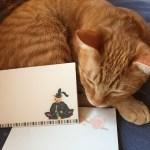 4周年の記念はお懐紙、猫本専門書店で創業祭始まる