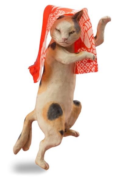 170417fukuneko02 374x600 - 1000点の猫のアートが大集合、「福ねこ展」が目黒雅叙園で開催