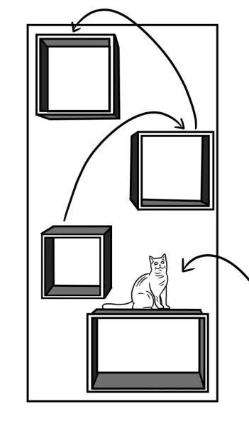 181015catcase03 351x600 - 黒猫たたずむシェルフの中で、ひょっこり顔出し景色に溶け込む