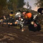 【FF14】ララフェルたちがホウキに乗って集合!ガルーダ鯖の守護天節SSイベントにスノーマンで参加してみた