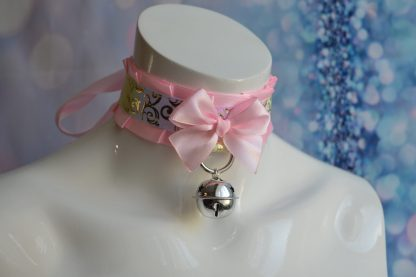 Kitten play collar - Pink Star