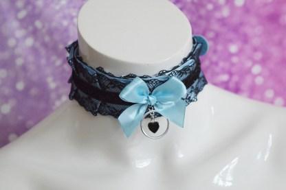 Kitten play buckle collar - Dark Heart