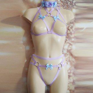 Venariael Diantha - Purple elastic bra w/ collar