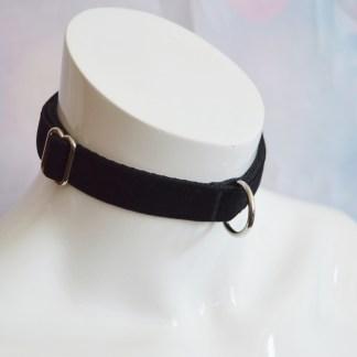 Kitten play buckle collar - Pitch Black