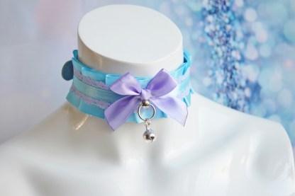 Purple pup buckle collar