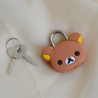 Rilakkuma bear shaped lock
