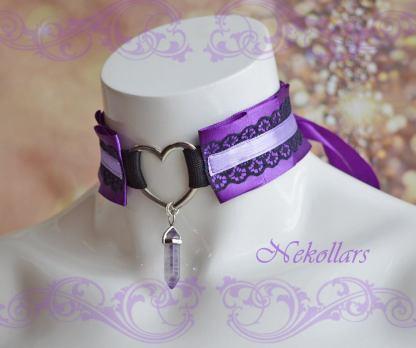 ddlg collar - Purple magic