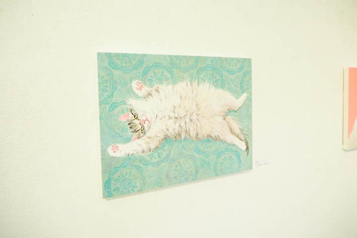 長毛猫の日本画