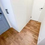 玄関前の廊下。猫さんのトイレも置けそう。