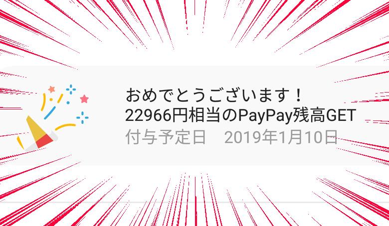 PayPayの「100億円あげちゃうキャンペーン」を利用してビックカメラでスマホを購入。実質5万円オフに成功!