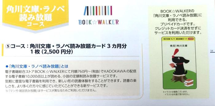 2020年KADOKAWAの株主優待カタログ内容