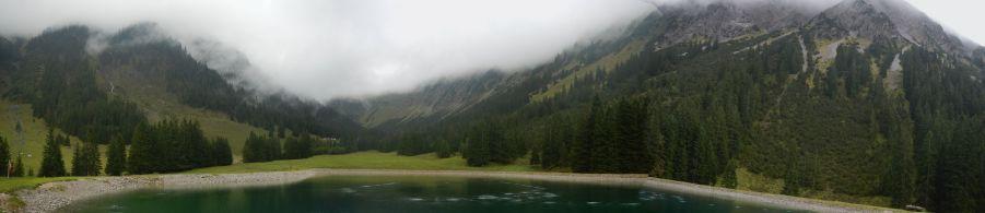 Hinten links im Nebel: Das Nebelhorn
