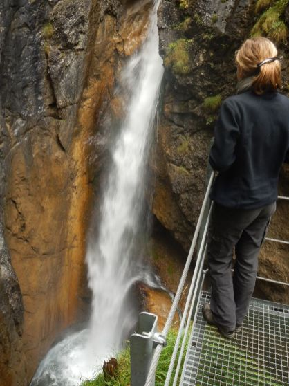 Der zweite, größere Wasserfall im Hölltobel