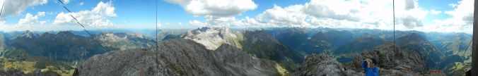 Panorama vom Biberkopf, Blick ins Stillachtal