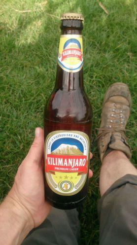 Zum Abschluss ein Bier