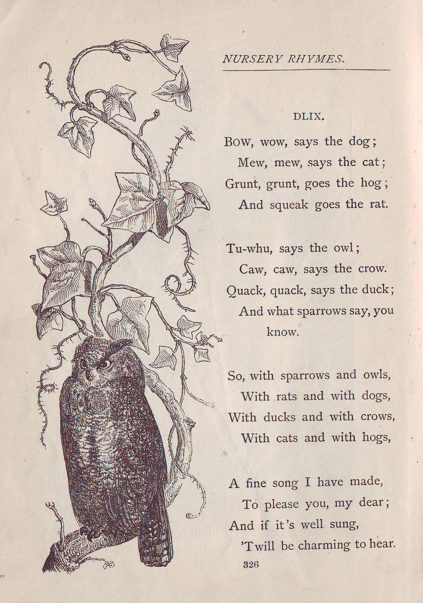 Tom Thumb Nursery Rhyme Words