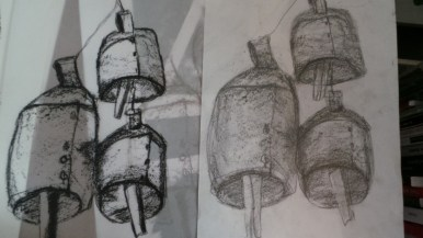 Bells; sketch, Positive and first draft