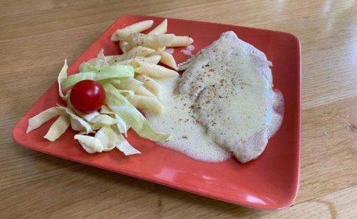 Escalope sauce citron-Recettes faciles rapides gourmandes pour maman pressée Blog Grossesse Ne le dites a personne