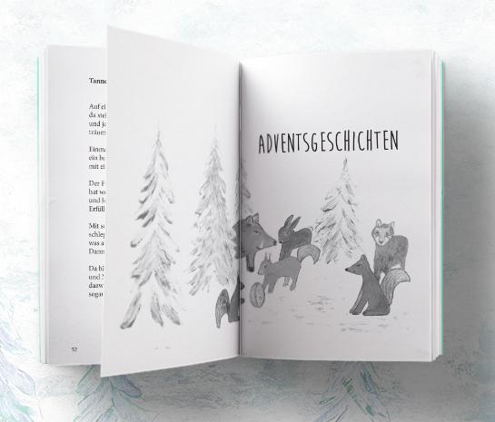 Beispiel Innenseite Gedichte und Geschichten zur Weihnachtszeit von Nele Handwerker